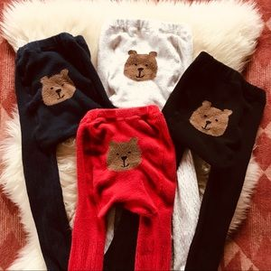 (4) GAP Cable Knit Footed Tights Toddler 4-5 Years